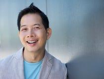 Confident asian man smiling Stock Photos