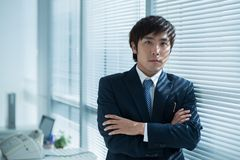 Confident Asian manager Royalty Free Stock Images