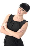 Confident Assertive Positive Happy Woman Smiling With Arms Crossed Stock Photo