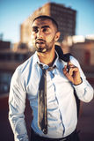 Confident attractive Arab businessman in urban environment Royalty Free Stock Photography
