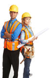 Confident attractive construction workers Stock Photos