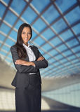 Confident attractive corporate manageress Stock Photo