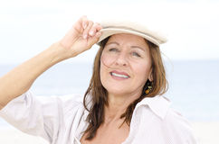 Confident attractive mature woman  outdoor Stock Photo