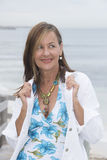 Confident attractive mature woman outdoor Royalty Free Stock Image