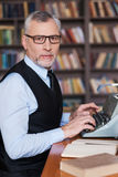 Confident author. Royalty Free Stock Photography