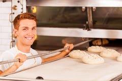 Confident baker. Stock Photo