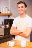Confident barista. Stock Images