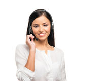 A confident and beautiful customer support operator Stock Photography