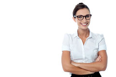 Confident bespectacled corporate woman Royalty Free Stock Photo
