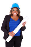 Confident Black African American woman architect smiling with fo Royalty Free Stock Images