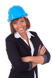 African American woman architect Stock Photo