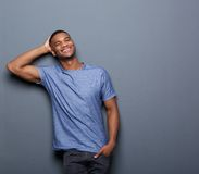 Confident black man smiling Stock Images