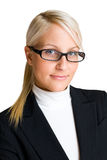Confident blond business woman. Stock Photography