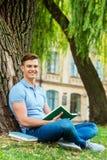 Confident bookworm. Stock Image