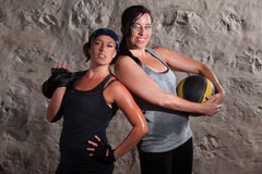 Confident Boot Camp Training Women Stock Photo