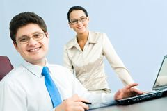 Confident boss Royalty Free Stock Photography