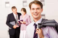Confident boss Royalty Free Stock Image