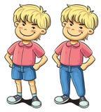 Confident Boy. Cartoon illustration of confident boy royalty free illustration