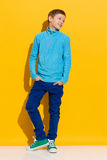 Confident boy stock photos