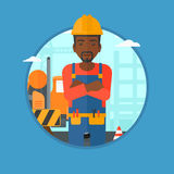 Confident builder with arms crossed. Royalty Free Stock Photography