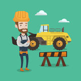 Confident builder with arms crossed. Royalty Free Stock Photos