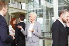 Confident buisnesswoman in office building stock image