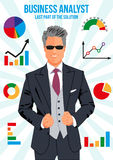Confident business analyst Royalty Free Stock Images