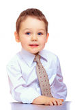 Confident business child. three years old boy Royalty Free Stock Images
