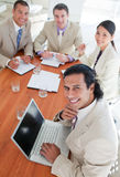 Confident business co-workers in a meeting Royalty Free Stock Photo