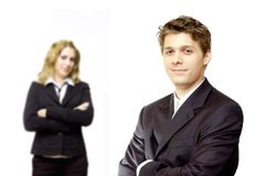 Confident business couple Royalty Free Stock Images