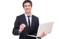 Confident business expert. Stock Photos