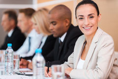 Confident business expert. Royalty Free Stock Photo