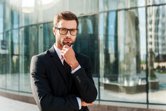 Confident business expert. Royalty Free Stock Images