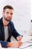 Confident business expert. Royalty Free Stock Image