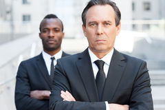 Confident business experts. Royalty Free Stock Image