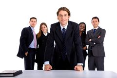 Confident business group Royalty Free Stock Image