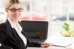 Confident business lady. Stock Photography