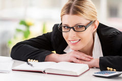 Confident business lady. Royalty Free Stock Photography