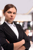 Confident business lady. Stock Photo