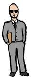 Confident business man royalty free illustration