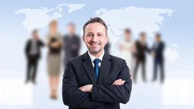 Confident business man as a corporate boss Royalty Free Stock Images