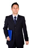 Confident business man with a folder Royalty Free Stock Photos