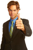 Confident Business man giving the big thumbs up Royalty Free Stock Photography