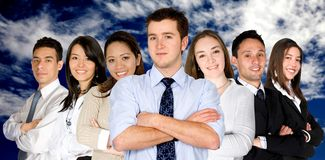 Confident business man and his business team Stock Image