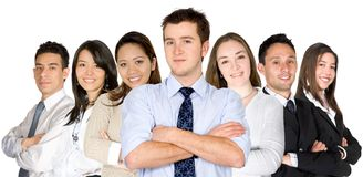Confident business man and his business team Stock Images