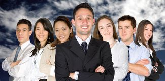 Confident business man and his business team Royalty Free Stock Photos
