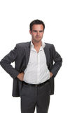 Confident business man isolated Royalty Free Stock Images