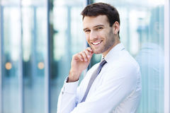 Confident business man. Portrait of confident business man Stock Photography