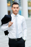 Confident business man portrait outdoor Stock Photography