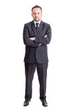 Confident business man standing. Isolated on white background Stock Image